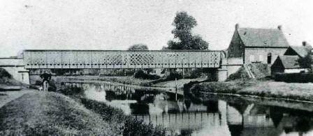 Eerste brug over de Leie in Olsene